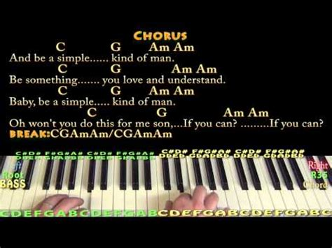 Simple Man (Lynyrd Skynyrd) Piano Cover Lesson with Chords