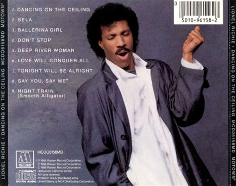 Dancing on the Ceiling - Lionel Richie | Songs, Reviews