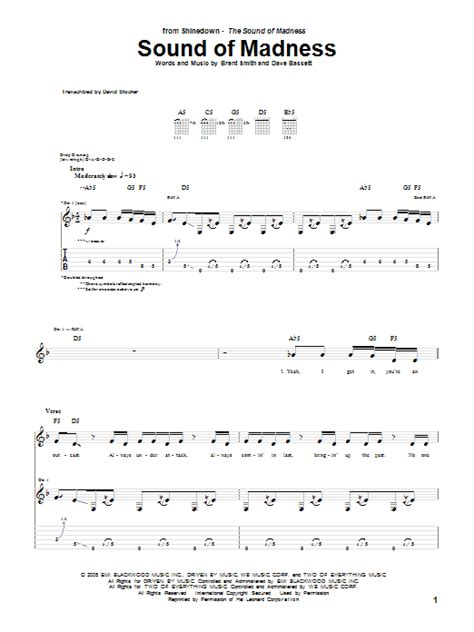 Sound Of Madness by Shinedown - Guitar Tab - Guitar Instructor
