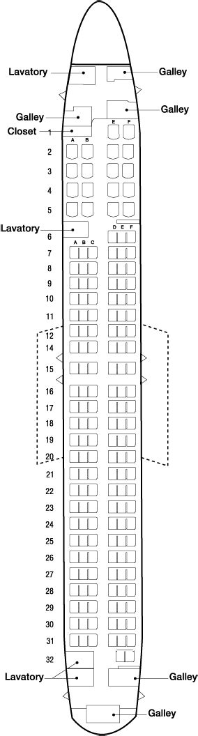 Continental Airlines Aircraft Seatmaps - Airline Seating
