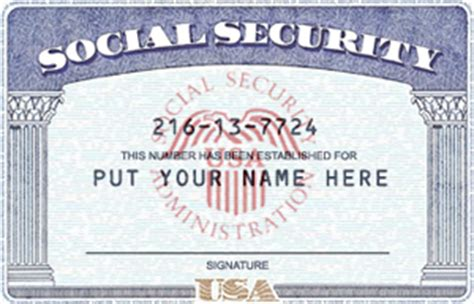 Fake Social Security Card Template | playbestonlinegames