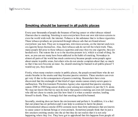 Ban smoking argument essay prompts - Annotated