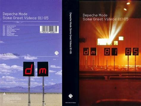 """Depeche Mode """"Some Great Videos 81>85"""" 1998"""