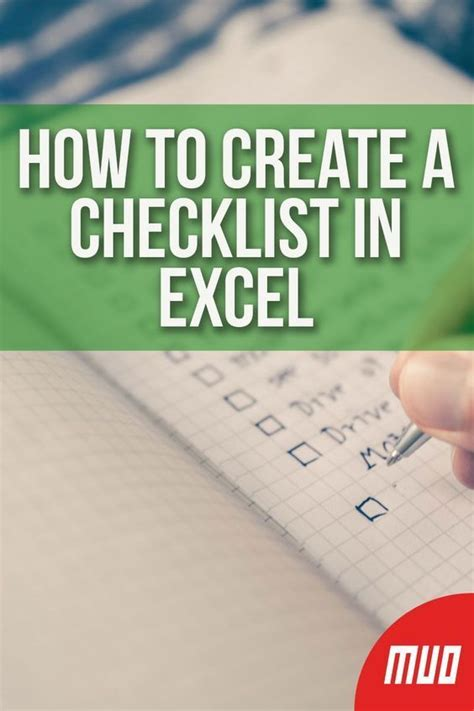 How to Create a Checklist in Excel   Microsoft excel