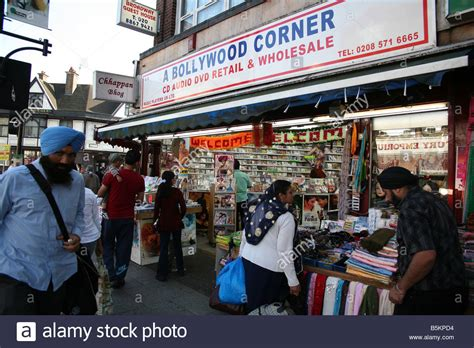 Asian store in Southall Broadway London Stock Photo
