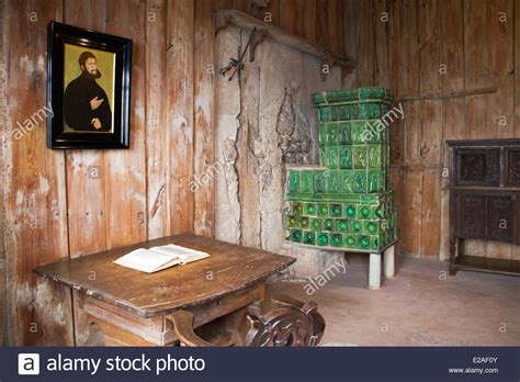 Germany: Martin Luther Room in the Wartburg Castle Stock