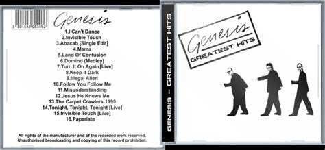 Genesis - Greatest Hits Music Box Art Cover by GrapefruitFace
