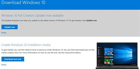 How to download the Fall Creators Update's official ISO