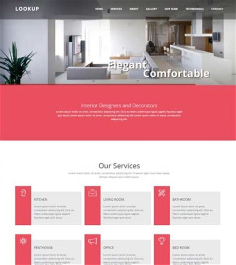 Interior Design Bootstrap Website Template For Free Download
