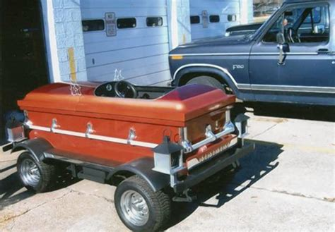 Coffin car for sale on Craigslist sure to be a date magnet