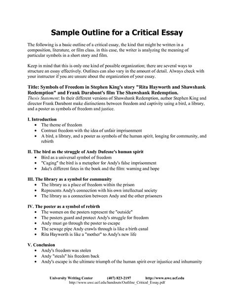 001 Essay Example Critical Response Format Writing W Of
