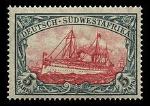 Postage stamps and postal history of German South West