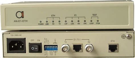 E1 Converter to Ethernet 10/100 Mbit/s - Plug&Play!