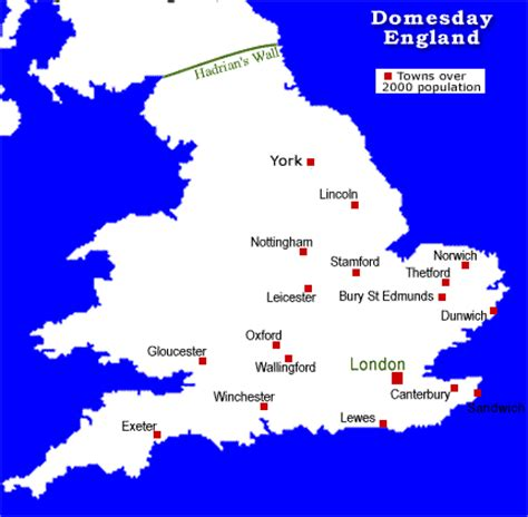 Domesday towns of England