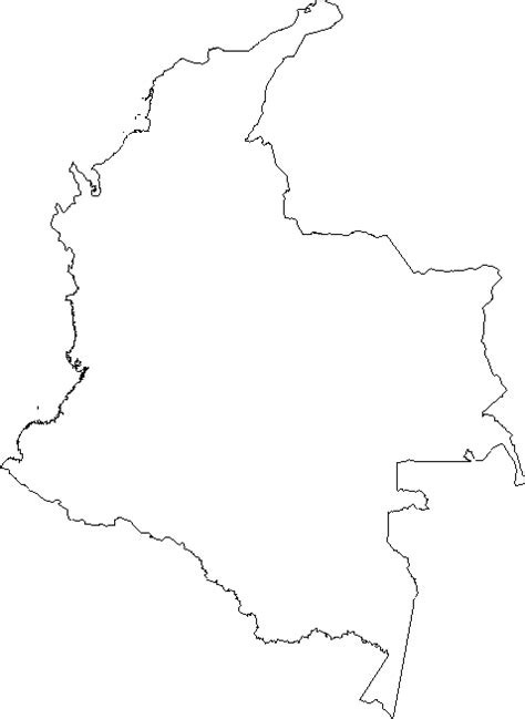 Blank Outline Map of Colombia
