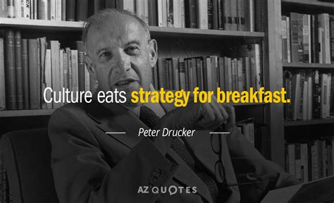 Peter Drucker quote: Culture eats strategy for breakfast