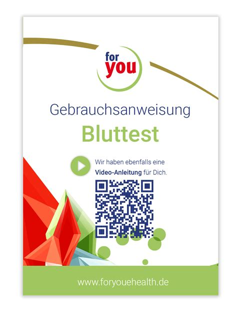 Anleitung Bluttest   for you eHealth