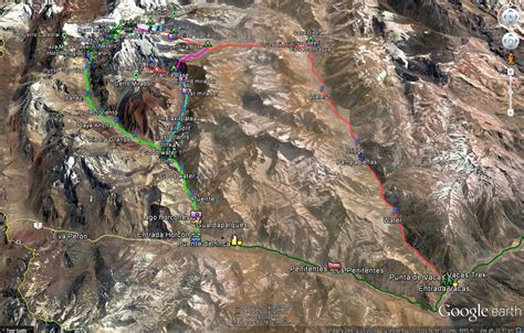 GPS Maps - Complete Aconcagua Hiking and Climbing Routes