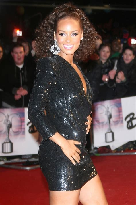 Alicia Keys in The 2010 Brit Awards at Earls Court in
