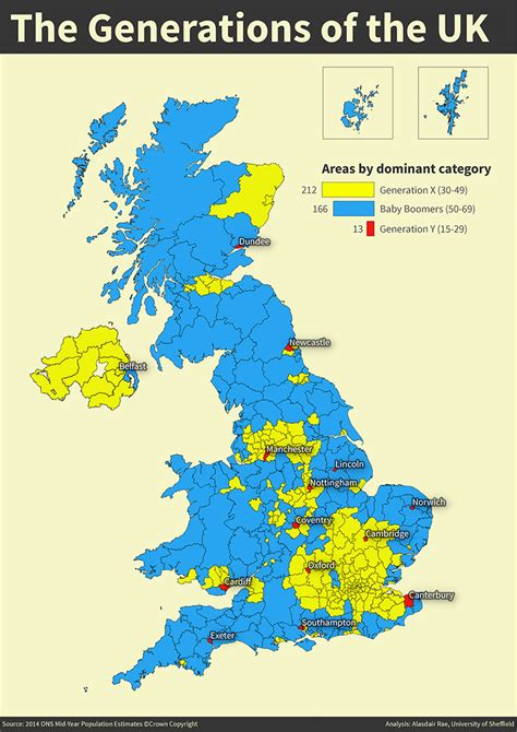 Generations of the UK revealed in new map - News - Faculty